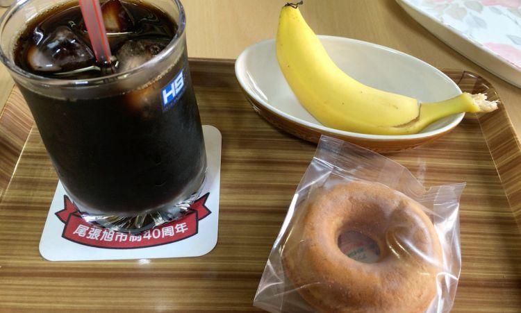 コーヒーと焼きドーナツセット