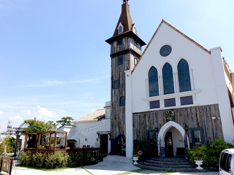 新舞子の駅から近い教会のような建物
